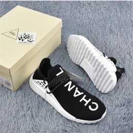 Wholesale Ch Sports - NMD HUMAN RACE Pharrell Williams X CH AC7190 Running Shoes 2017 Newest Men Women Luxury Sneakers Outdoor Black Fashion Jogging Sports Shoes