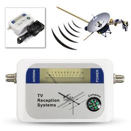 спутниковые датчики Скидка Мини DVB-T Спутниковый искатель Цифровая антенна Наземное ТВ Антенна Измеритель силы сигнала Приемник DVBT Частота 170 - 860 МГц