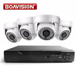cctv dvr dome cámara de seguridad Rebajas BOAVISION sistema de seguridad para el hogar 4CH 1080P AHD sistema de DVR 1920 * 1080 2000TVL cámara de vigilancia de visión nocturna Dome IR CCTV Kits