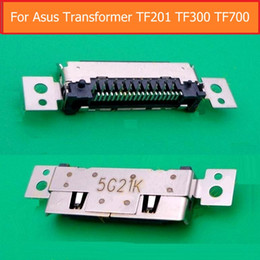 Wholesale Asus Dock - 100% Genuine Date Charging dock port For ASUS Transformer TF700 TF300 T500 T201 USB Charger Socket Jack connector replacement