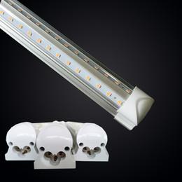 2019 cree led blanco brillante Tubos LED 1.5M 1.8M 2.4M Blanco frío 6000K Super brillante T8 72W 8 pies Bombilla LED Brillo doble AC85-265V rebajas cree led blanco brillante