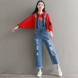 pantalon punk épais Promotion Harajuku Punk Hip Hop École Lâche Baggy Jeans Jeans Denim Bleu Poche En Coton Automne Printemps Femmes Salopettes Pantalon Pantalon.