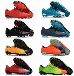 Wholesale Original Leather Soccer Boots - 2018 original soccer cleats Hypervenom Phantom 3 III FG low top neymar boots cheap soccer shoes for men authentic football boots mens new