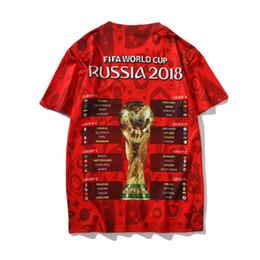 2019 camisas de moda t de futebol Moda Rússia World Cup 3D Impresso Camisas de Futebol T de Manga Curta de Verão Homens Casuais T Camisas T Plus Size Asiático S-2XL Venda Quente camisas de moda t de futebol barato