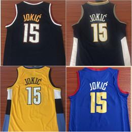Men s 15 Nikola Jokic Yellow Blue Jersey Cheap New The City Basketball  Jerseys High Quality Basketball Shirts S-XXL 0e1833248