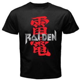 Giochi classici di sega online-T-shirt da gioco retrò retrò di Raiden Seibu Classic Arcade Sega T-shirt basic nera con scollo tee manica corta in cotone