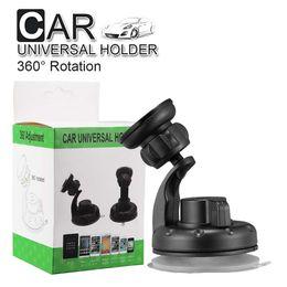 Автомобильный держатель вентиляционное отверстие 360 поворот Универсальный автомобильный держатель телефона для Iphone X 8 8Plus лобовое стекло приборной панели автомобильный держатель с присоской от
