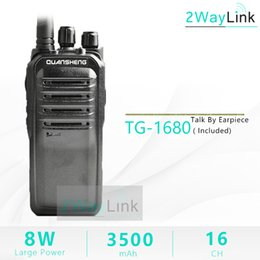Wholesale Long Range Two Way Radios - QuanSheng TG-1680 8W Walkie Talkie Long Range 10KM UHF400-470MHz Professional 16 Channels 3500mah Long Standby Large Battery