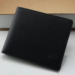 Wholesale Men Business Case - New men's new fashion business MB genuine leather card case bag black polka dot short wallet casual card photo holder pocket