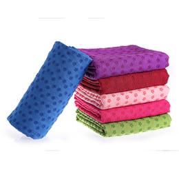 toalha de fibra Desconto Micro fibra antiderrapante toalha de yoga mat toalha antiderrapante yoga toalha cobertor de fitness 183 * 63 cm c5542