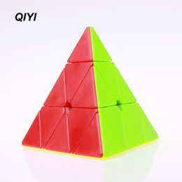 Wholesale Popular Puzzles - 2018 Popular QIYI Pyraminx Magic Cube Toy Professional Speed Cubo Magico For Teenage Learning Puzzle Game