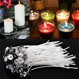 Wholesale Candles Making - New 30PCS Durable Candle Wicks Cotton Core Waxed With Sustainers for DIY Making Candles Gifts Supplies 4 Inch Wholesale
