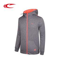 Простые куртки мужчины онлайн-SAIQI Men Running Breathable Jackets Solid Simple Design Sportwear Coats Original  Running Hooded Jacket Hoodies For Male