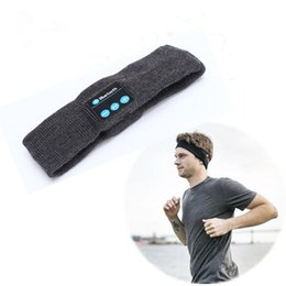 Wholesale fone sport bluetooth - Wireless Bluetooth Headset Headwear Strap Handsfree Mp3 Music Player Earphone Headphone Sleeping Sports Ear Phone Fone De Ouvido