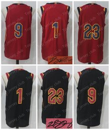 Wholesale Red Dr - 2018 New CLE Basketball CAVS Jersey Men Women Youth ,Signed Retro Children,23 LBJ 9 WD 1 DR,Black Red USA Team