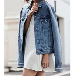 7164eb6cae1 2018 Autumn Women Denim Jacket Button Ladies Belted Jeans Jacket Plus Size  Female Long Sleeve Coat Outwear