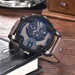 2019 cool new watch design Nouveau Design Creative Montres Hommes Top Marque De Luxe En Cuir Montre-Bracelet Cadrans Décoratifs Cool Horloge Mâle Montres Pour Hommes De Grande Taille cool new watch design pas cher