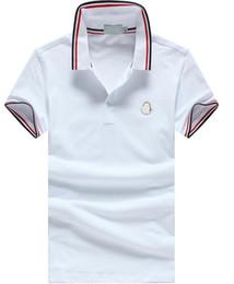 Wholesale Cheap Printed Shirts - PoloShirt men Short Sleeve T shirt Brand M polo shirt men Dropship Cheap High Quality M-XXXL Free Shipping.
