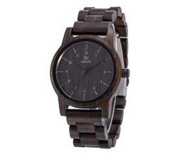 Wholesale Wood Wrist Watch Mens - AAA Men Dress Watch QUartz UWOOD Mens Wooden Watch Wood Wrist Watches men Natural Calendar Display Clock