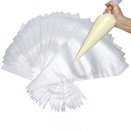 10 * 6.5 pollici 100pcs sacchetti di decorazione di pasticceria di plastica monouso che decora sacchi di glassa di pasticceria da