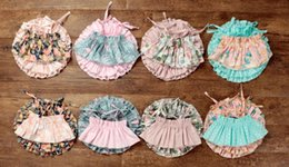 Wholesale Girls Flower Skirt Top - Girls Cotton T-Shirts Tops + Shorts Skirt Sets Flower Printed Ins Bohemia Kids Summer Baby Clothing Sets