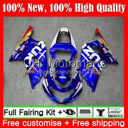 2019 kit di velluto yamaha r1 viola Carrozzeria per SUZUKI GSX-R600 GSXR 750 K1 GSXR750 01 02 03 23MT11 GSXR 600 01 03 New Blue red GSX-R750 GSXR600 2001 2002 2003 Carenatura