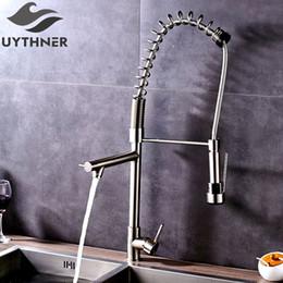 Uythner Heighten Brushed Nickel Deck Mounted Kitchen Faucet Mixer Tap  Factory Direct Sale