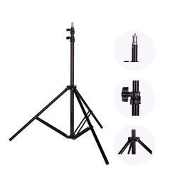 Wholesale Flash Photo Video - Photo 2M(79in) Light Stand Tripod With 1 4 Screw Head For Photo Studio Softbox Video Flash Umbrellas Reflector Lighting