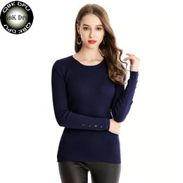 edd250535b 2018 High Elastic Solid O-Neck Sweater Women Slim Sexy Tight Bottoming  Knitted Pullovers Elegant Long Sleeve Jumper Women