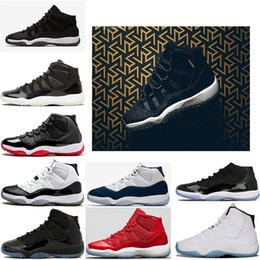 Wholesale Air Gym - (with box ) air retro 11 PRM Heiress Black Stingray Gym Red Chicago Midnight Navy Space Jam Men Women Basketball Shoes sports shoes Sneakers