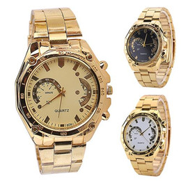 2019 мужчина смотреть золотой цвет Fashion Top  Women's Men's Golden Color Stainless Steel Band Analog Quartz Sport Wrist Watch скидка мужчина смотреть золотой цвет