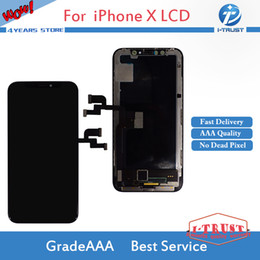 Wholesale pixel high - AMOLE Material New Arrival No Dead Pixel High Quality LCD For iPhone 10 Iphone X Amazing Replacement For Phone Repair With Free DHL Shipping