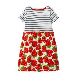 Wholesale Soft Cotton Baby Dresses - Cute Girls Summer Cotton Cartoon Short Sleeves Dress Durable Soft Baby Unicorn Clothing 6 pcs lot