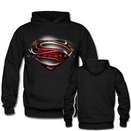 Wholesale Female Superheroes - Superhero Logo Black Men Women Hoodie Sweatshirts Clothes Customized High Quality Male Female Pullover Sweatshirt Oversize Tops
