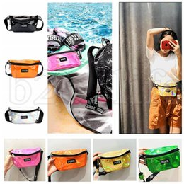 Wholesale wholesale fashion messenger bags - PINK letter Fashion Laser Waist Bag Travel Fanny Pack Women Pouch Packs Outdoor Waterproof Beach Bag Purses KKA5222