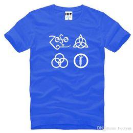 2019 punk metal camiseta Nuevo Zoso Led Zeppelin Camisetas Hombres Algodón de Manga Corta Banda de Rock de Metal Zoso Hombres impresos Camiseta de Moda Masculina Camiseta rebajas punk metal camiseta