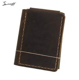 Billetera de cuero hecha a mano online-Smirnof Vintage Leather Men Purse La vida secreta de Walter Mitty Retro Wallet Custom LOGO Handmade Genuine Leather Wallet Male