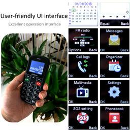 mini sim téléphones cellulaires android Promotion Artfone CS181 Big Bouton principal mobile téléphone débloqué avec Dock Bouton latéral et 1400mAh Téléphones cellulaires batterie lampe de poche