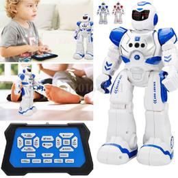 Inteligente Eletrônica Inteligente Robô RC Humanóide Programável Inteligente 2.4G Controle Remoto Interativo robô de Dança para Crianças Dos Miúdos Brinquedos Presentes de