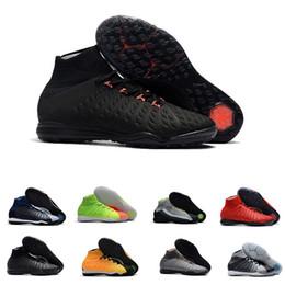 sports shoes e897e e2c34 venta caliente aaa zapatos de fútbol de calidad para hombres Hypervenom X  Proximo II DF TF negro   naranja negro   plata para hombre tacos de fútbol  de ...