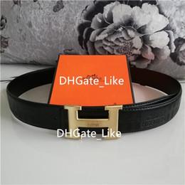 54311915d8c Cadeau de luxe Meilleure Qualité Sangle CEINTURE en cuir véritable  véritable Mens designer en cuir impression avec des ceintures de boîte pour  hommes femmes ...