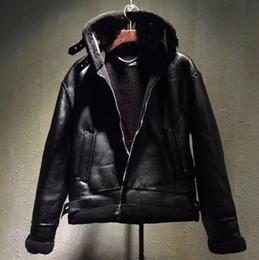 19d6707a5b9 Luxury Designer Coat Male Lapel Letters LOGO Fur Zipper Leather Jacket  Black Jacket Fashion Man And Woman High Quality Coat HFWPJK107