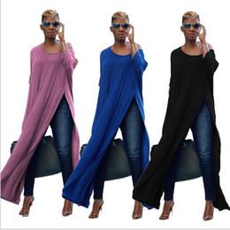 Wholesale Irregular Pleat Dress - Women long sleeve Dress Open Fork Dress Irregular autumn long sleeve fashion open fork evening long dress LJJK848