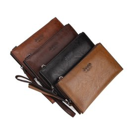 Wholesale korean style casual large handbags - Wholesale European and American brands luxury wallet men's business PU wallet long-sized large-capacity luxury handbags Free shopping