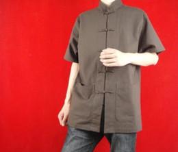 Argentina 100% algodón marrón Kung Fu artes marciales Tai Chi camisa ropa XS-XL o sastre por encargo Suministro