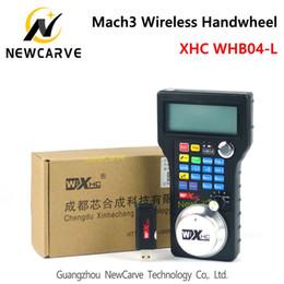 Wholesale Axis Milling Machine - XHC CNC handwheel wireless Mach3 MPG pendant handwheel for milling machine 4 axis MPG WHB04   WHB04-L  WHB04L NewCarve Controller