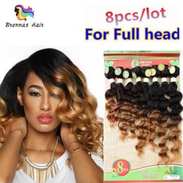 Wholesale Pure Jerry - 8pcs per pack human hair extention 2018 New Hair Style for Black Woman natural ombre color jerry deep kinky curly bundles USA UK AU