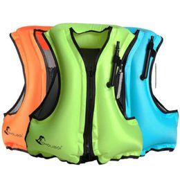 2019 chaqueta para nadar Nuevo chaleco salvavidas inflable chaleco de buceo con cremallera adulto natación chaqueta de pesca correa ajustable cintura chaleco salvavidas rebajas chaqueta para nadar