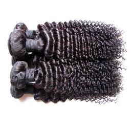 vrais morceaux de cheveux Promotion Dédouanement En Gros Brésilien Extensions de Cheveux Humains Tisse Véritable Matériel de Cheveux Humains Fait 2kg 20 Pièces Lot Kinky Bouclés Couleur Noire