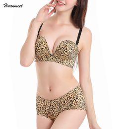 3600b51814 wholesale Hot Sexy Leopard Bra Set Sexy Women Seamless Convertible Straps Push  Up Bra High Quality Luxury 3 4 Cup Bra WS127